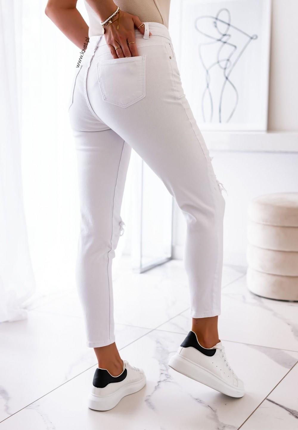 Spodnie Jeansowe Białe Blum