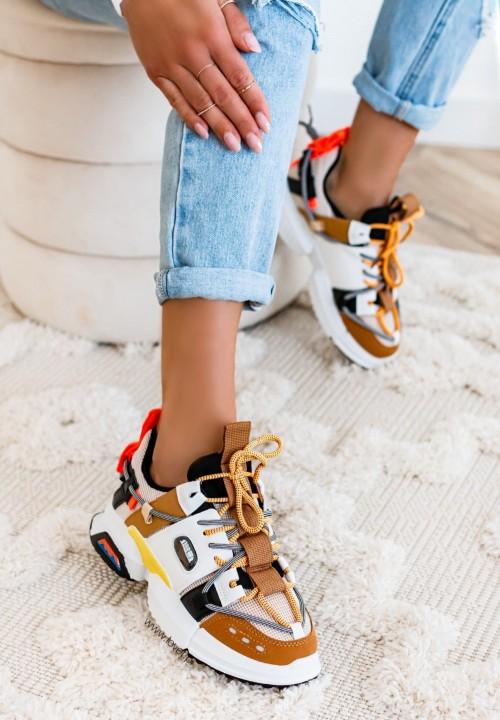 Trampki Sneakersy Camelowe Enrica