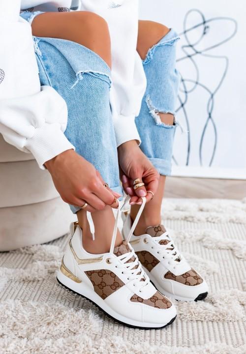 Trampki Sneakersy Białe Hannah