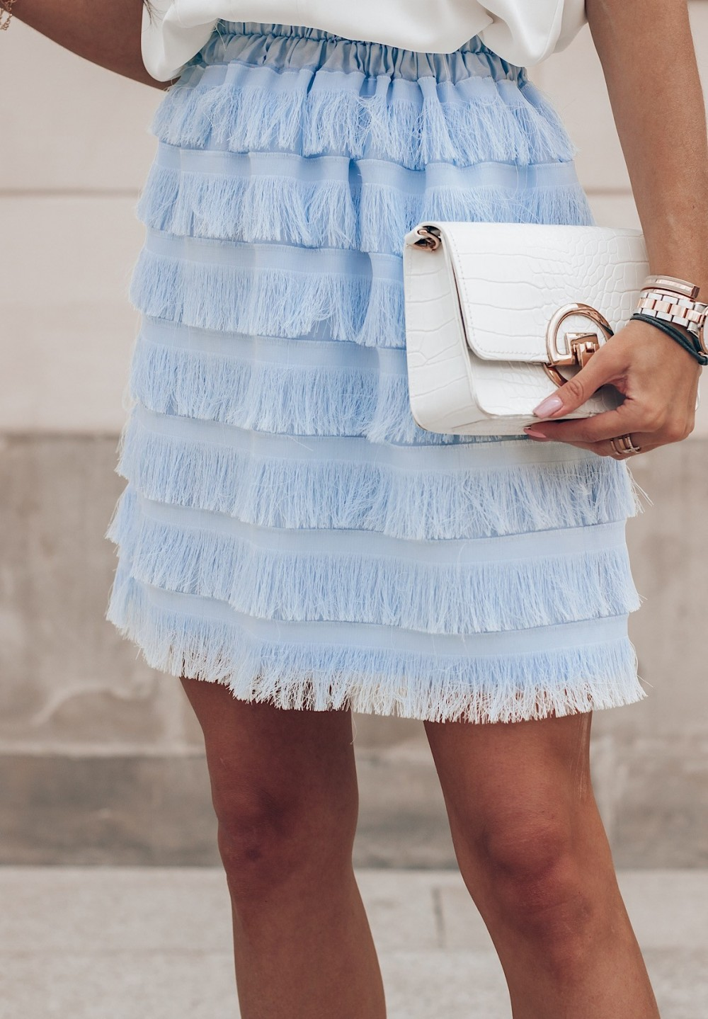 Spódnica Niebieska Palema
