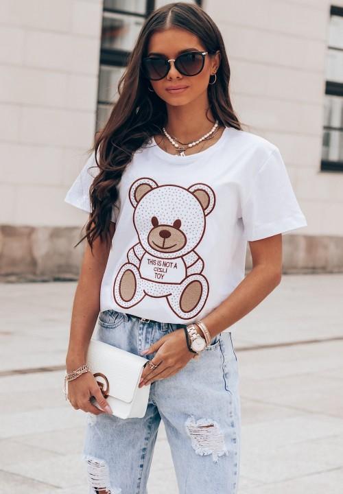 T-Shirt Biały Teddy