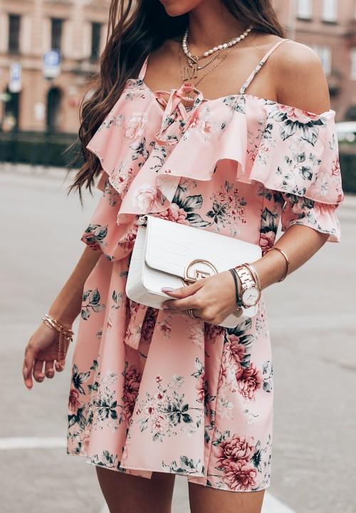 Sukienka Flower Różowa Brenda
