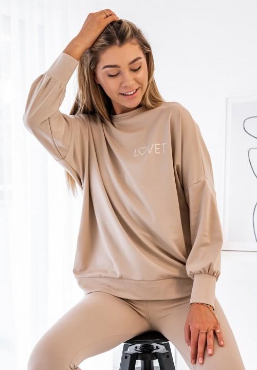 Bluza Oversize  Beżowa Mindy