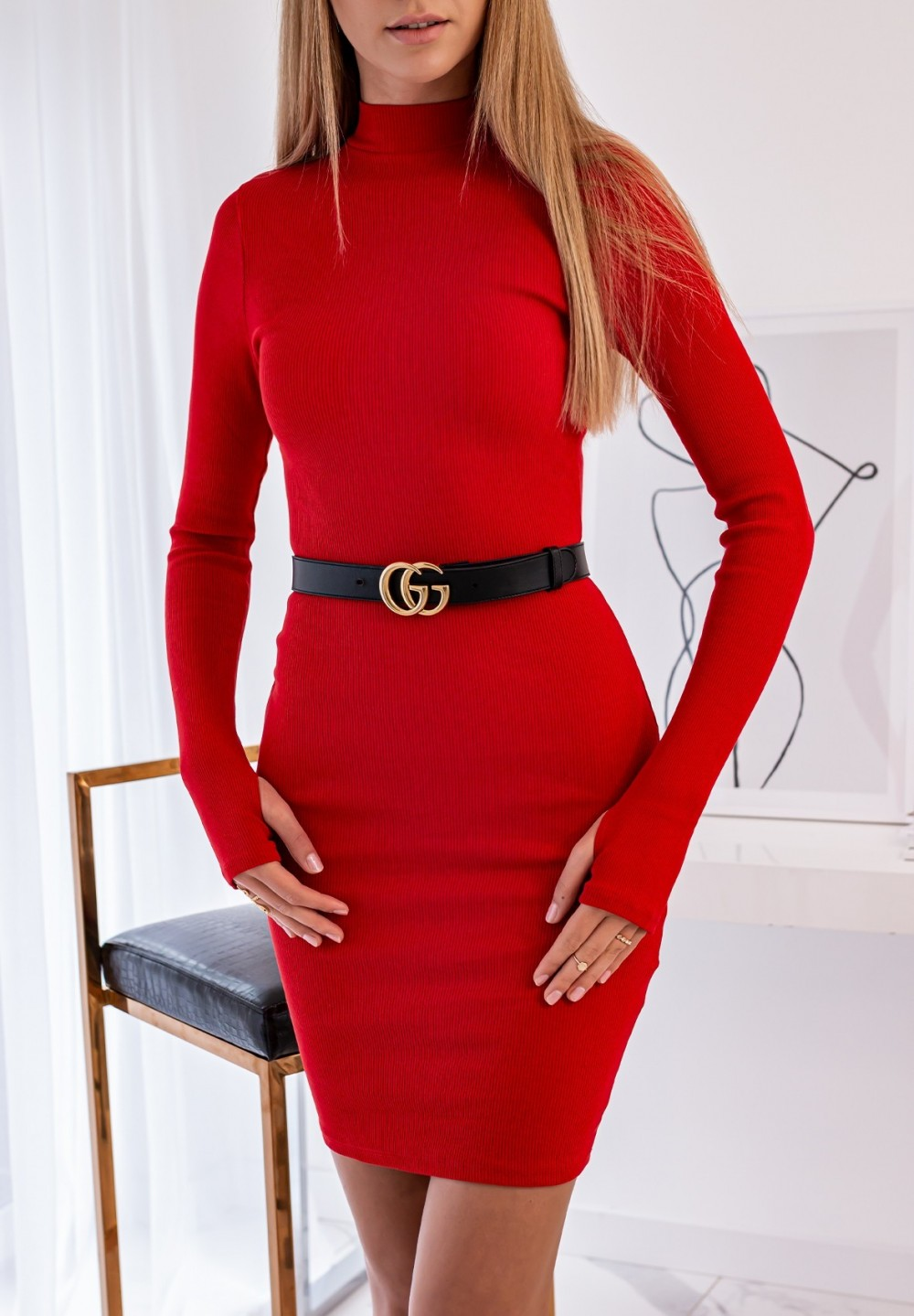 Sukienka Czerwona Mayla
